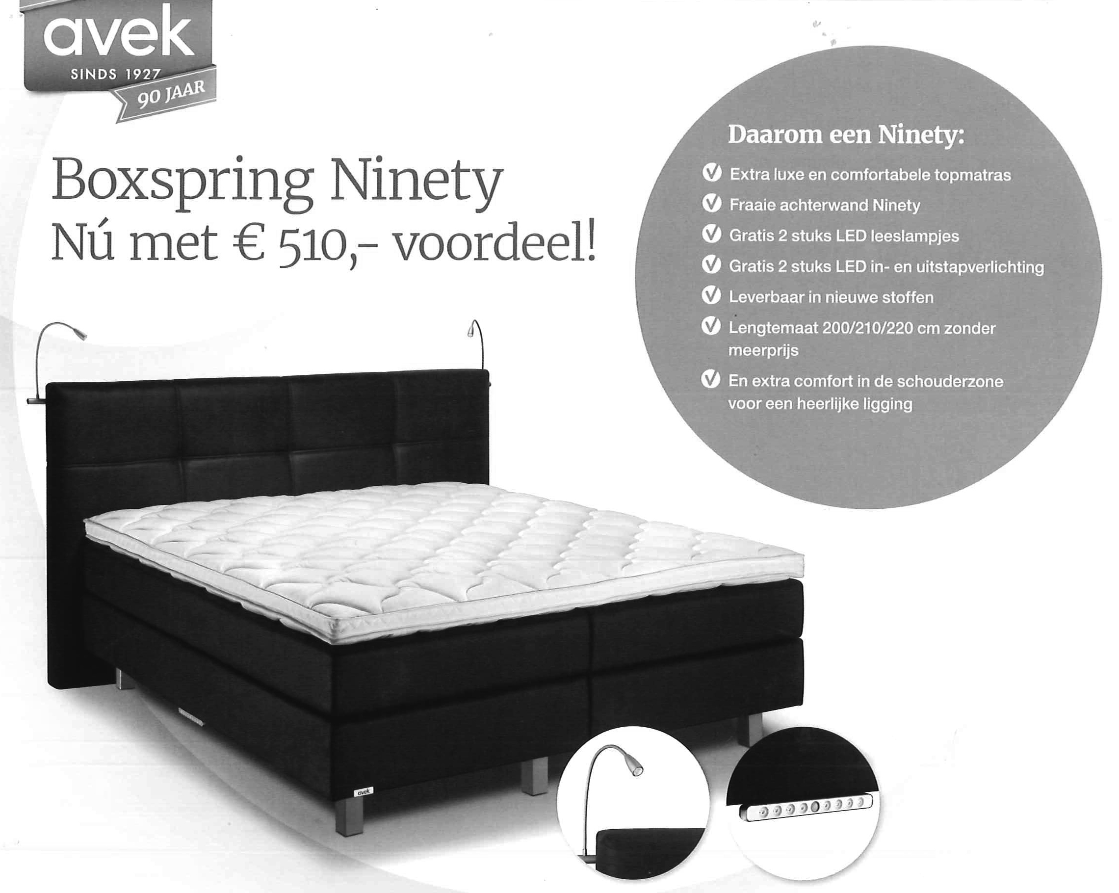 AVEK boxspring binatie 1927 model NINETY
