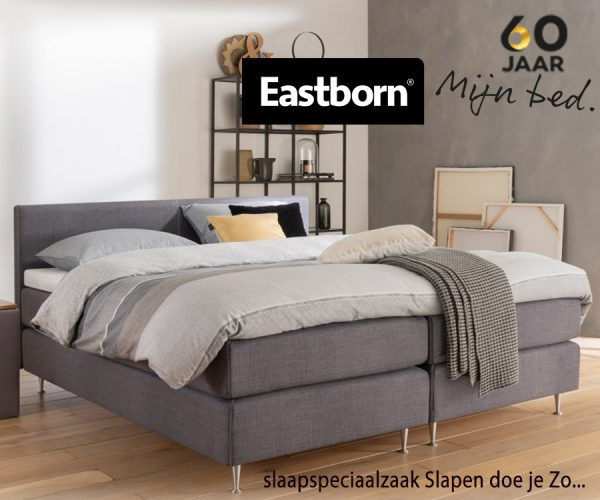 EASTBORN seizoensbed Stich in the Middle boxspringcombinatie