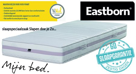 EASTBORN Q-4600 pocketvering matras met Vivid-foam
